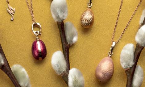 Пасхальная коллекция Mercury: драгоценные яйца и кулоны на золотых цепочках