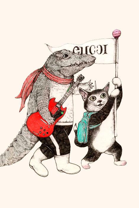 #PostaKidsClub: раскраска Gucci для маленьких поклонников бренда