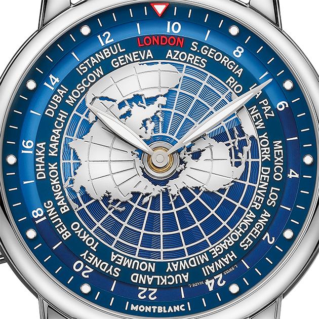 Montblanc Star Legacy Orbis Terrarum с функцией индикации мирового времени