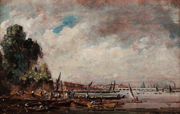 """Мост Ватерлоо, вид с левого берега Темзы"" (1820) Джон Констебл"