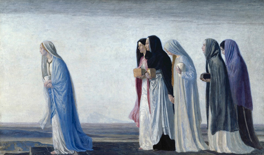 """""""Жены-мироносицы, идущие ко гробу"""" (1912) Роберт Эннинг Белл"""