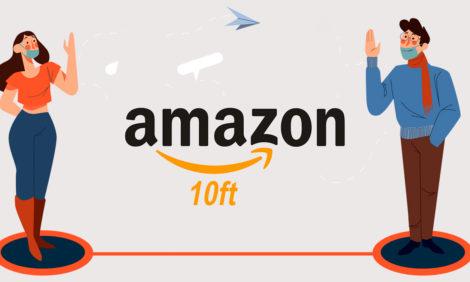 Amazon использует дополненную реальность для социального дистанцирования