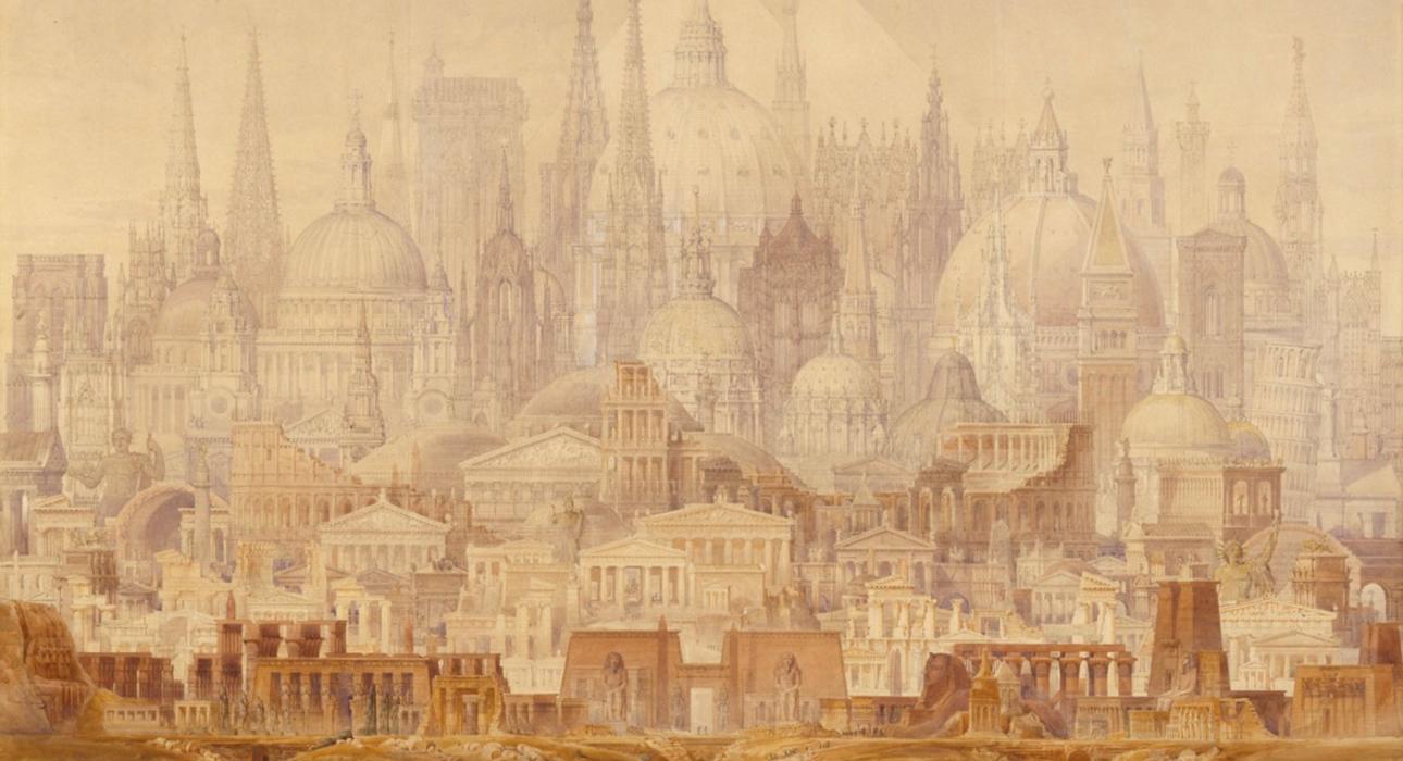 """""""Сон профессора"""" (1848) Чарльз Роберт Кокерелл"""