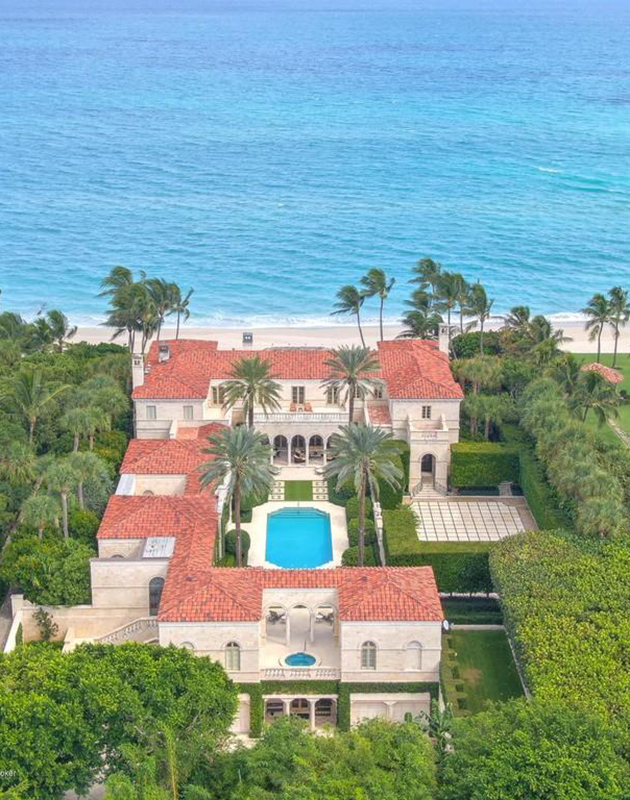 В Палм-Бич продается вилла на берегу океана на «линии миллиардеров» — за 110 миллионов долларов