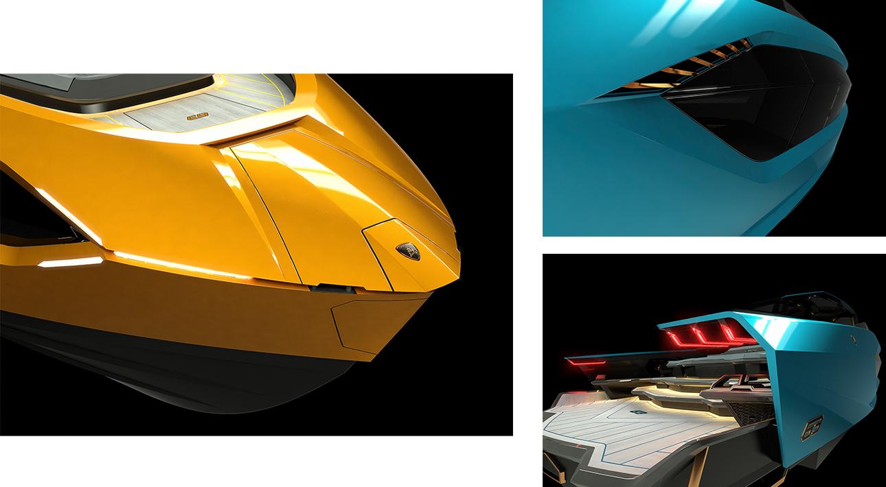 На Lamborghini — по морским просторам: итальянский бренд представил новую моторную яхту