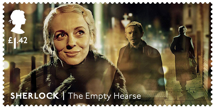 Почтовые марки с персонажами сериала «Шерлок»: Мэри Ватсон (Аманда Аббингтон)