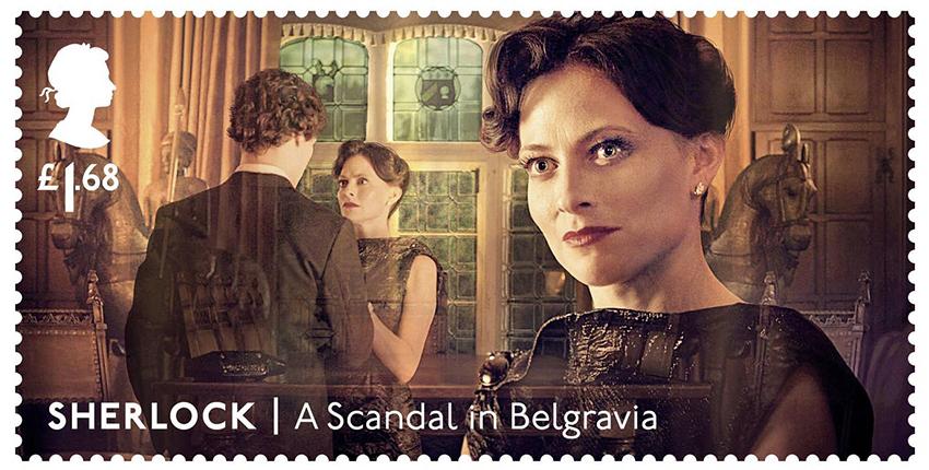 Почтовые марки с персонажами сериала «Шерлок»: Ирэн Адлер (Лара Пулвер)