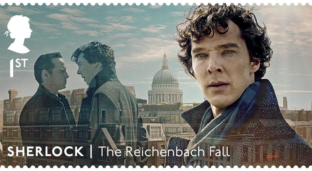 Почтовые марки с персонажами сериала «Шерлок»: Шерлок Холмс (Бенедикт Камбербэтч)