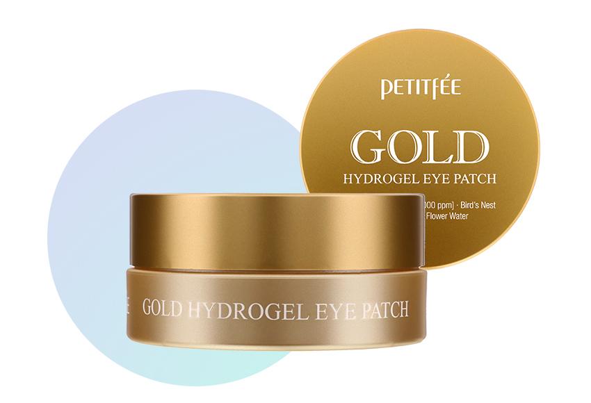 Гидрогелевые патчи для глаз с золотом Petitfee