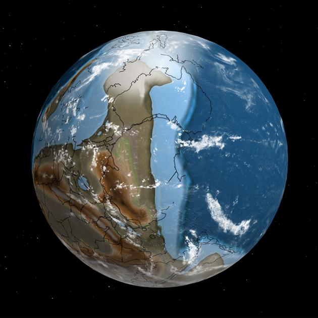 Интерактивный глобус покажет, как менялась Земля на протяжении 750 млн лет