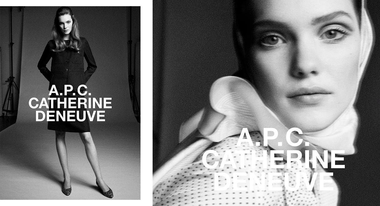 Катрин Денев создала коллаборацию с брендом A.P.C.