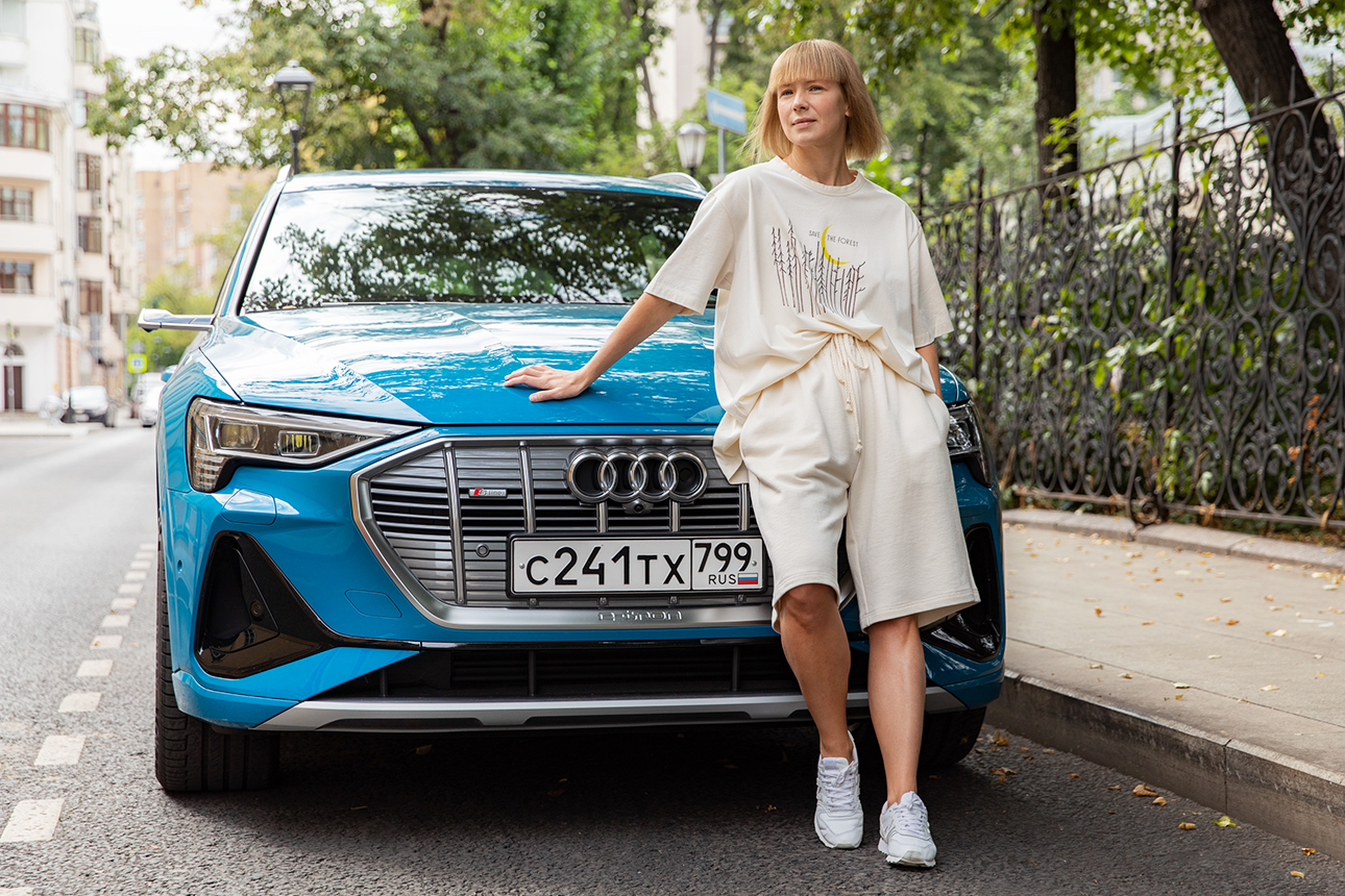 Вика Газинская и Audi e-tron