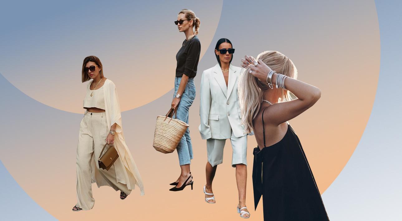 Правильные городские шорты, соломенные аксессуары и другие тонкости идеального образа для тех, кто решил продлить лето в солнечной Европе