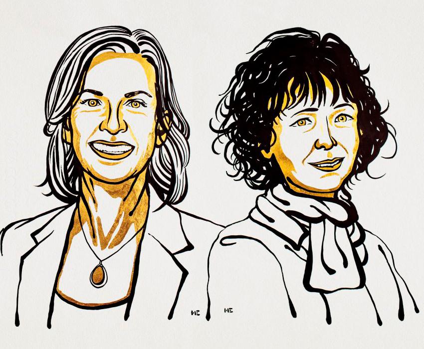 Эмманюэль Шарпантье и Дженнифер Дудна получили Нобелевскую премию за генетические ножницы