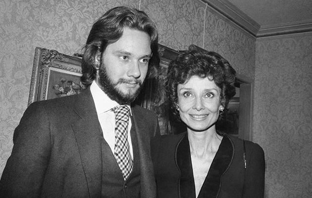 Одри Хепберн с сыном, 1979