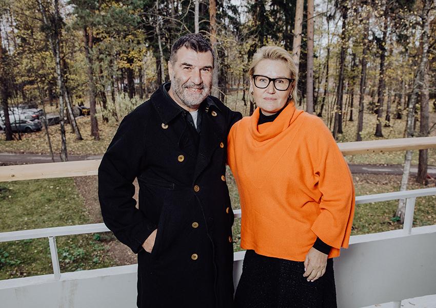 Евгений Гришковец и Мария Пиотровская (основатель Ассоциации родителей и детей с дислексией)