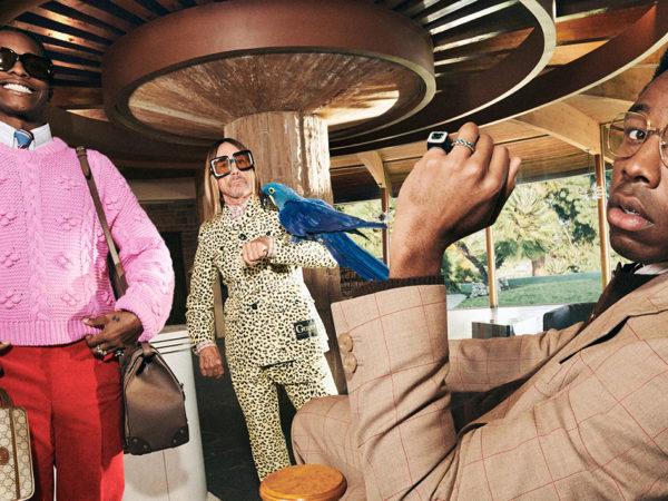 Попугаи, Игги Поп и рэперы — в новой рекламной кампании Gucci