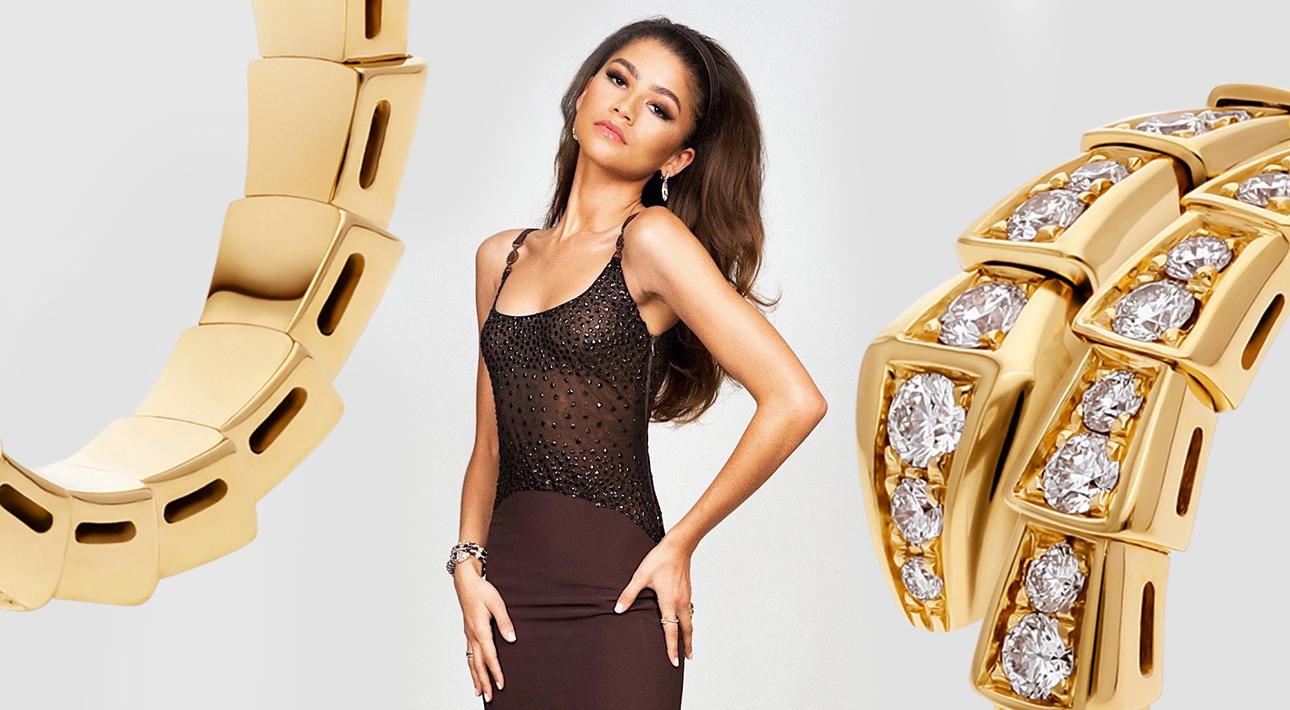 Фотоувеличение: Зендая в винтажном платье Versace и украшениях Bvlgari на вручении премии Green Carpet Awards