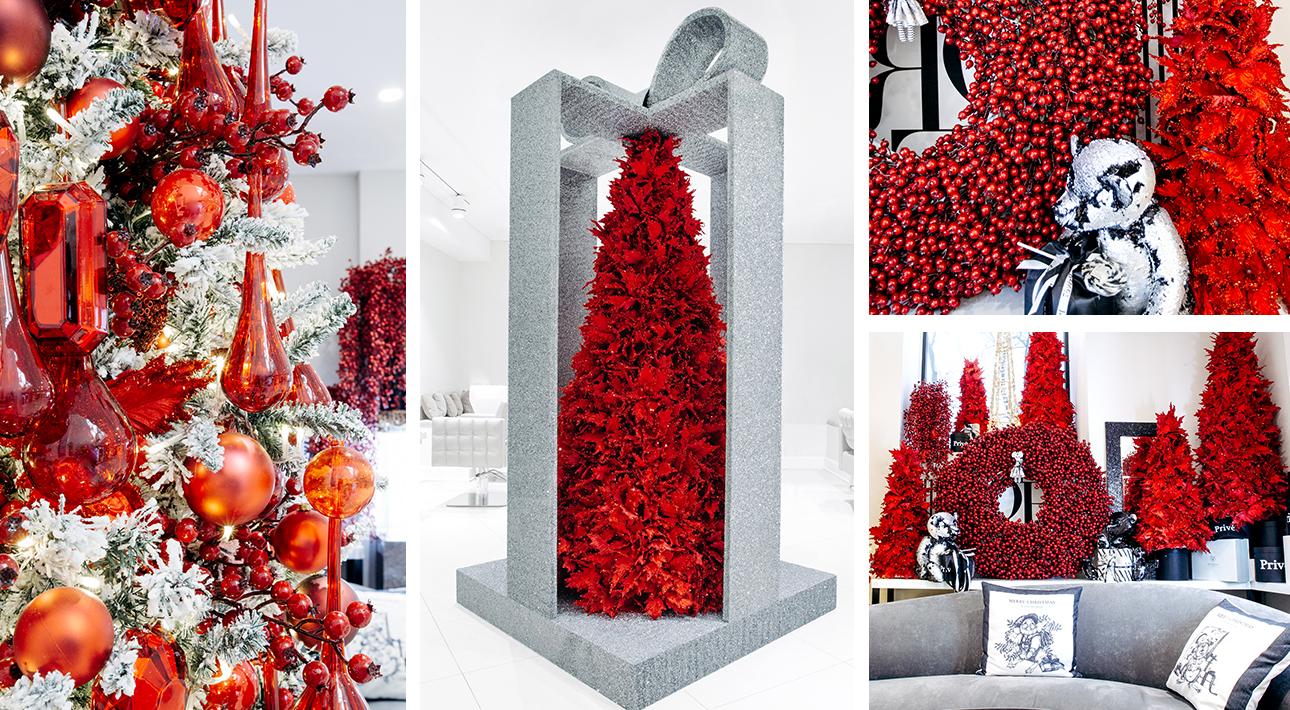 Новогоднее оформление салона красоты Privé7