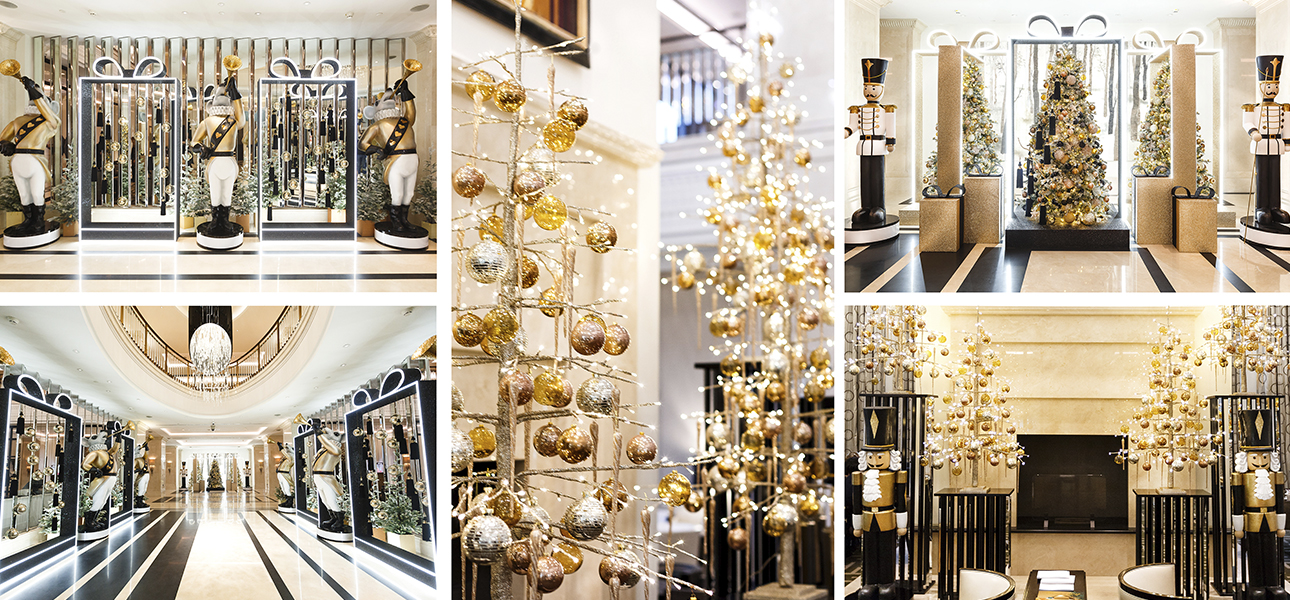 Новогоднее оформление Four Seasons Hotel Moscow