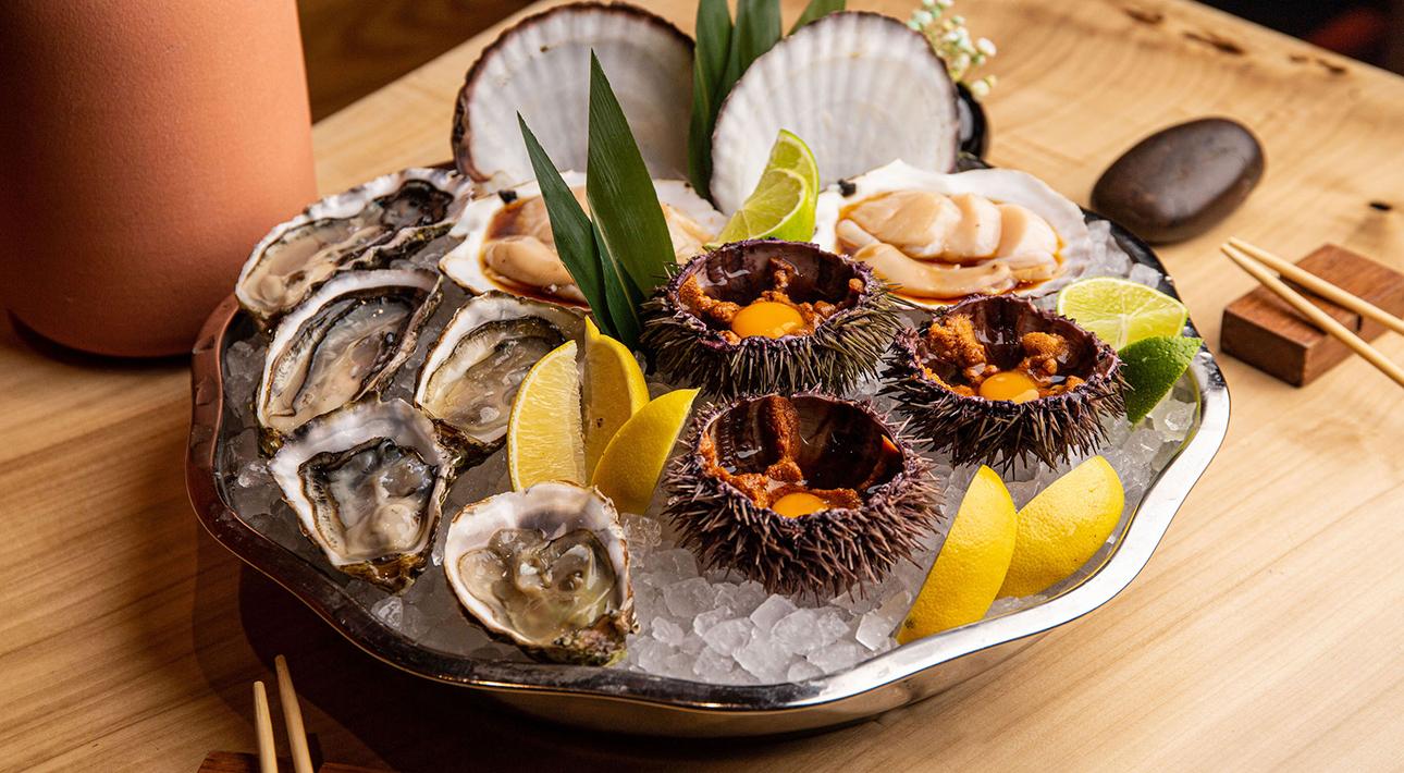 Hachiko: скидки на морепродукты и японское барбекю