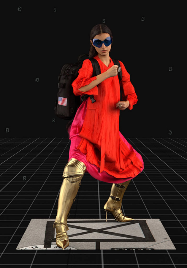 новая коллекция Balenciaga в виде компьютерной игры