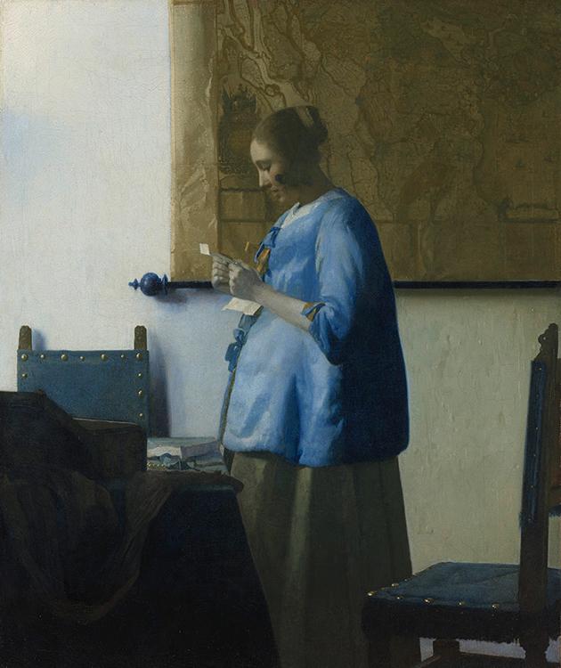 «Женщина, читающая письмо», Ян Вермеер, 1663