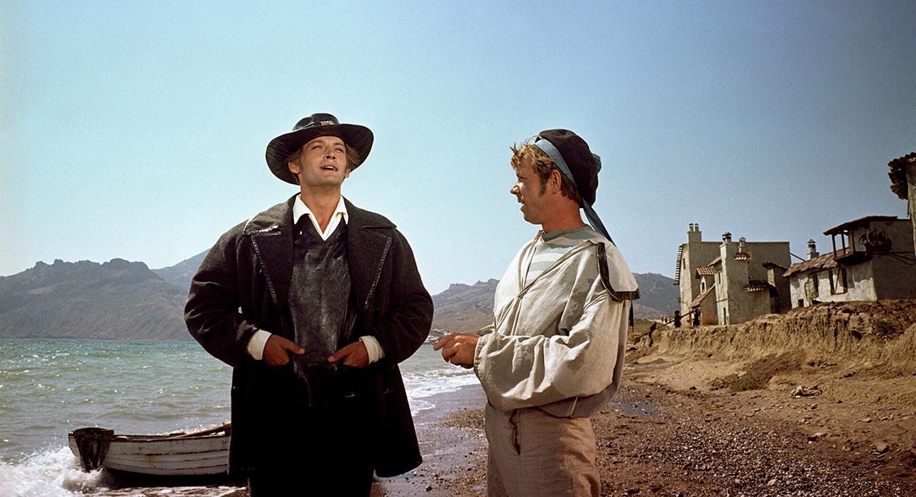 Василий Лановой на кадрах из фильма «Алые паруса» (1961)