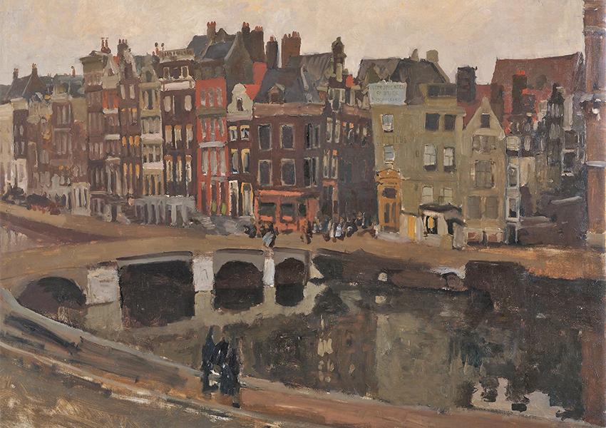 «Улица Рокин в Амстердаме», Георг Хендрик Брайтнер, 1897