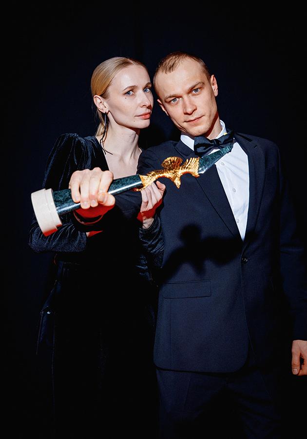 Юрий Борисов с женой Анной