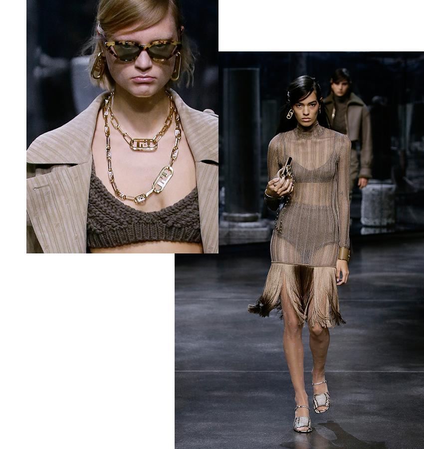 Показ женской коллекции Fendi осень-зима 2021