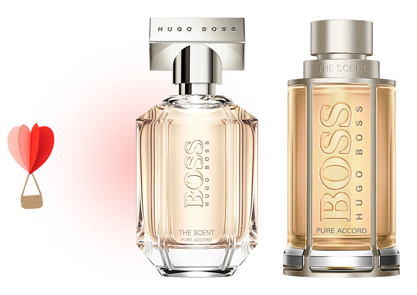 Hugo Boss The Scent Pure Accord for Her и for Him