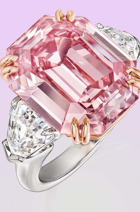 Идея подарка: кольцо Winston Pink Legacy с розовым бриллиантом