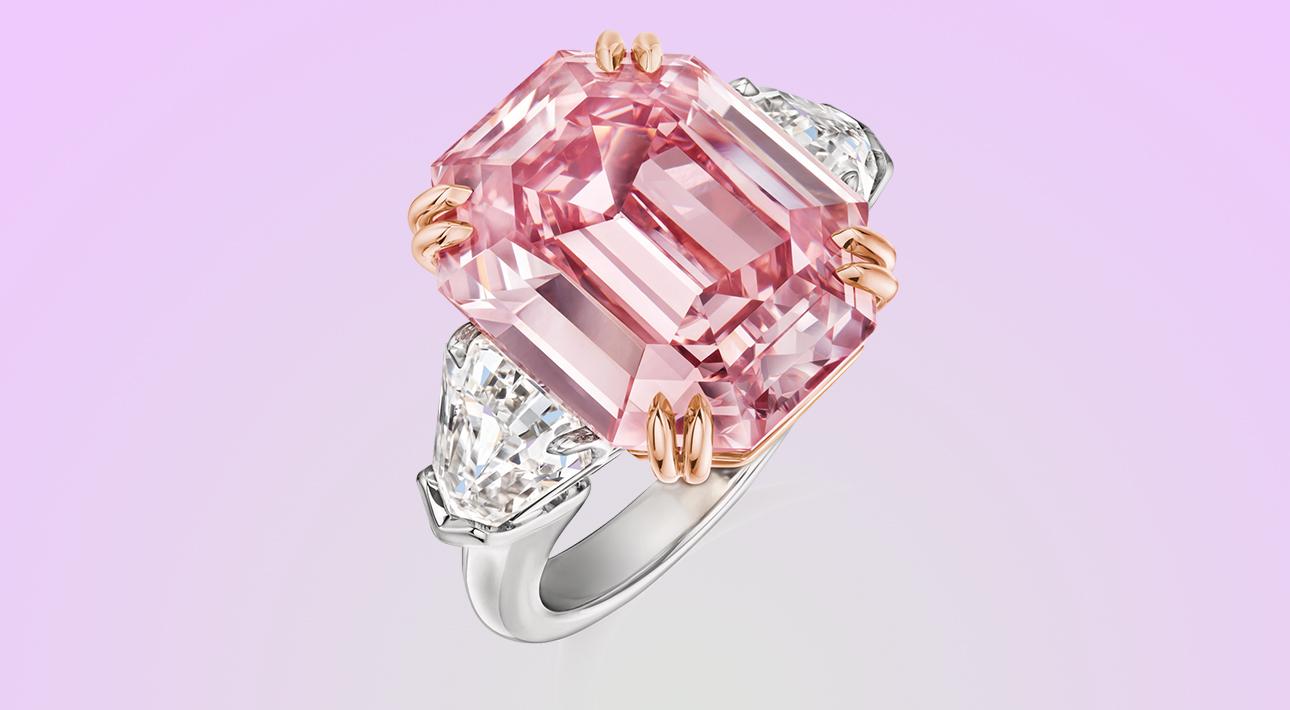 кольцо Winston Pink Legacy с розовым бриллиантом