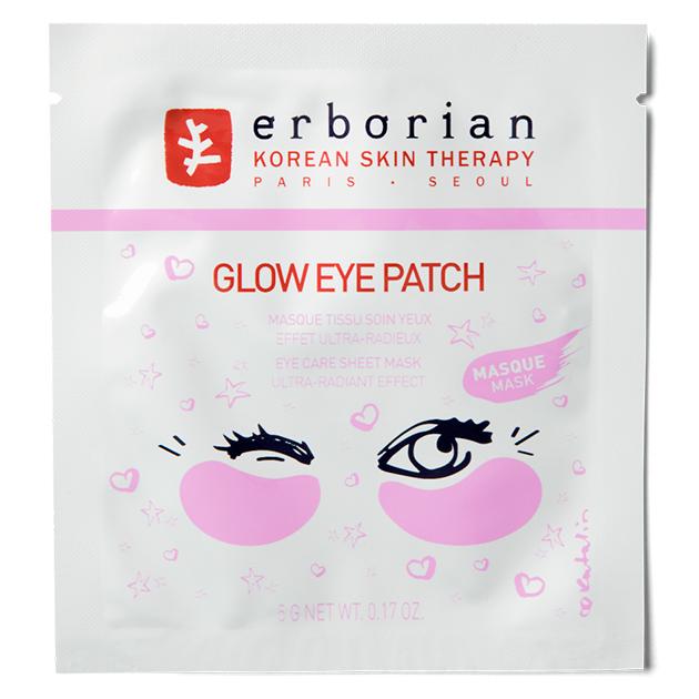 Тканевые патчи для области вокруг глаз Glow, Erborian
