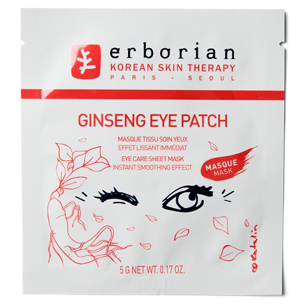 Тканевые патчи для области вокруг глаз Ginseng, Erborian
