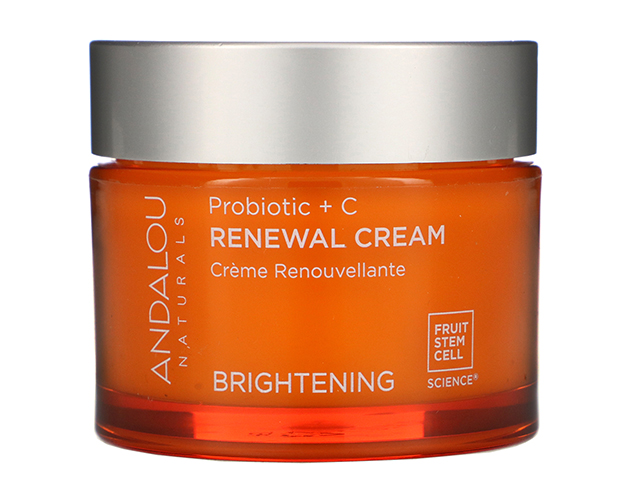 Andalou Naturals, восстанавливающий крем с пробиотиками и витамином C, улучшающий цвет лица