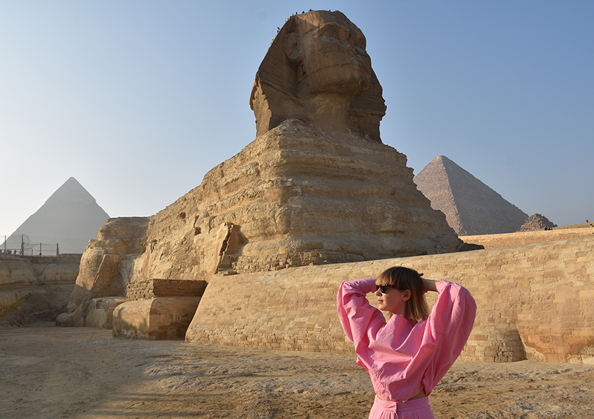 Вика Газинская — о путешествии в Египет