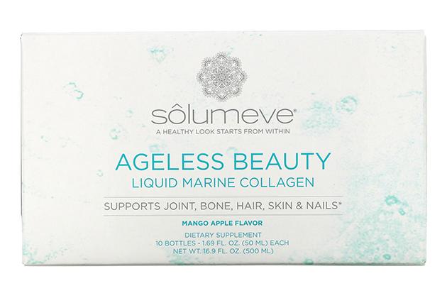 Solumeve, Ageless Beauty, жидкий морской коллаген со вкусом манго и яблока