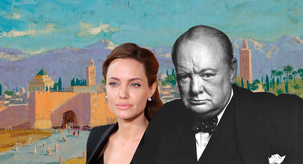 Анджелина Джоли продала картину Уинстона Черчилля, подаренную ей Брэдом Питтом