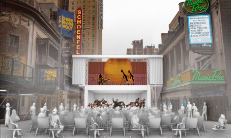 В Нью-Йорке планируют строить уличные поп-ап-театры из транспортных контейнеров