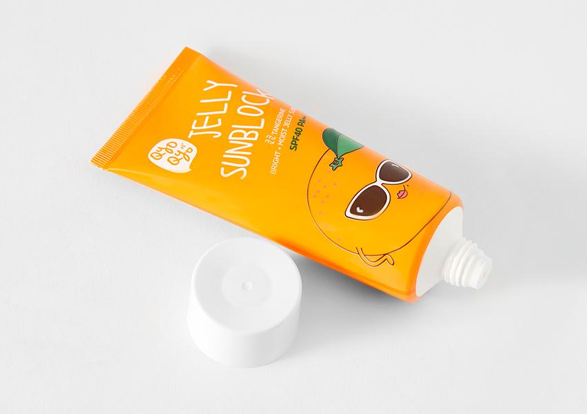 Tangerine Bright+MoistJelly Sunblock SPF 40 - PA++, Qyoqyo