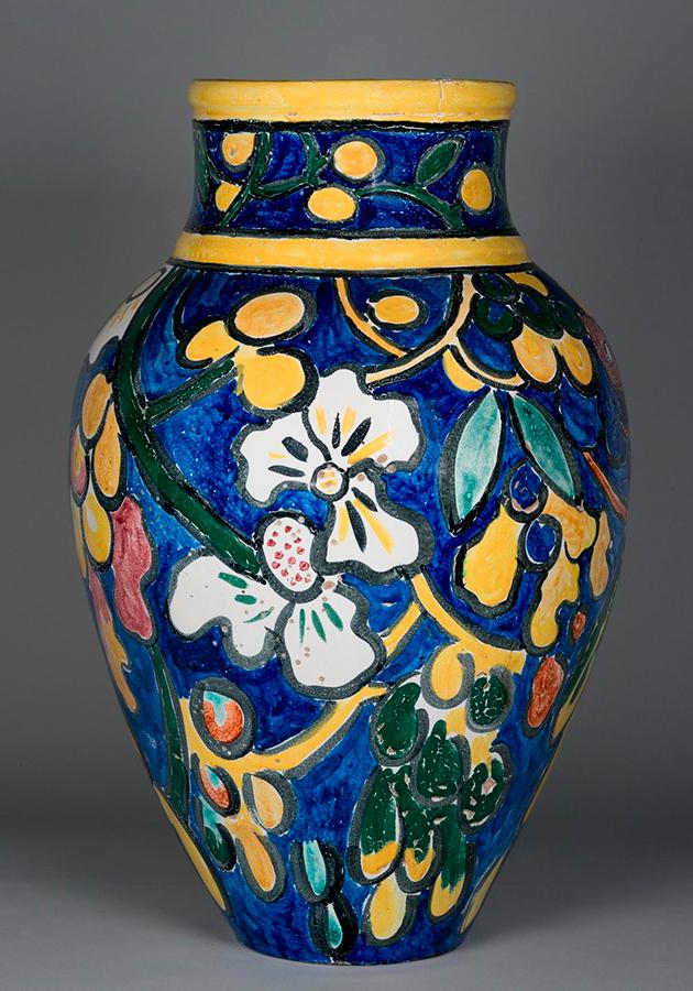 Морис де Вламинк. Ваза декоративная. Листья и плоды