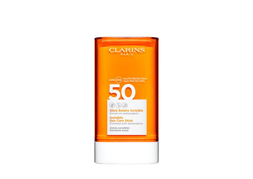 Солнцезащитный карандаш для чувствительных участков лица Stick Solaire Invisible SPF 50, Clarins Sun Care