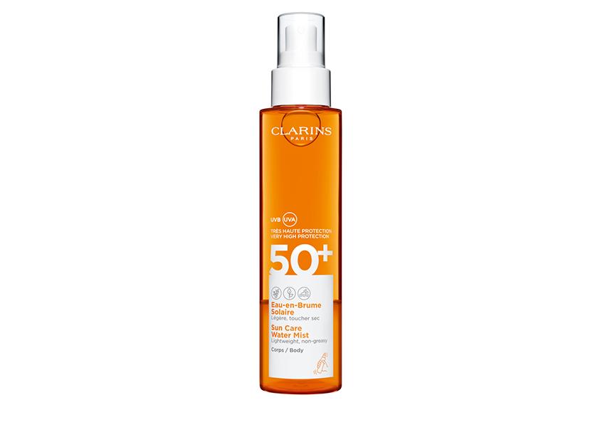 Солнцезащитный лосьон-спрей для тела Sun Care Water Mist SPF50+, Clarins