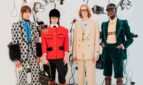#PostaStyleNotes: показ коллекции Gucci осень 2021 — цитаты из Balenciaga и подготовка к празднованию столетия бренда