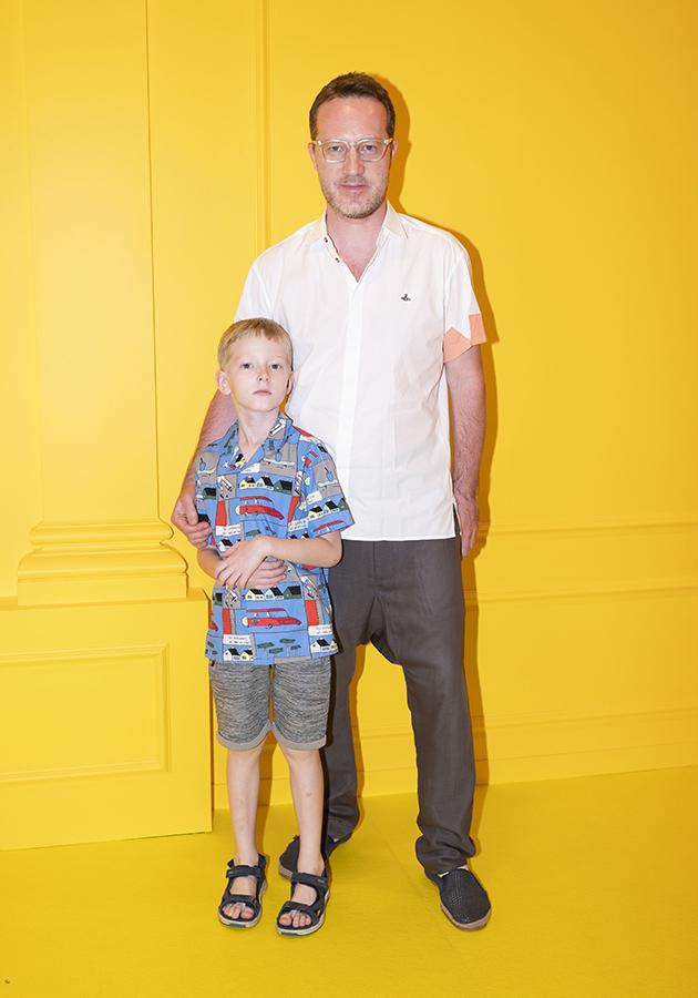 Александр Попов с сыном