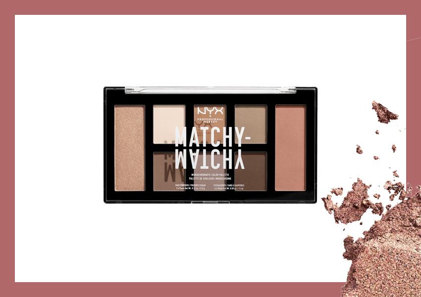 Палетка для монохромного макияжа глаз и лица Matchy Matchy Monochromatic (#01 Taupe), NYX