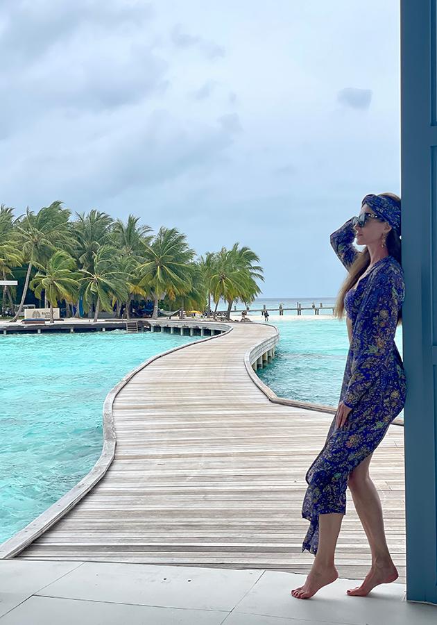 Ольга Андрикопулос в Raffles Maldives Meradhoo
