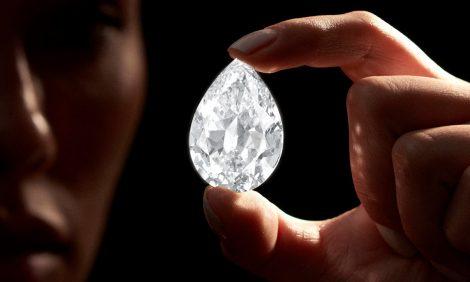 Аукционный дом Sotheby's принимает к оплате криптовалюту — за бриллиант весом более 100 карат